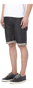 DENHAM R7 selvedge-denim shorts