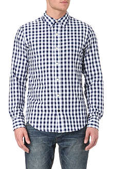 DENHAM Military gingham-printed shirt