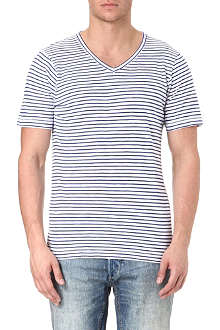 DENHAM Striped t-shirt