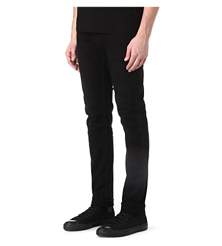 DENHAM Bolt regular-fit skinny jeans (Black