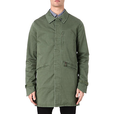 DENHAM Commission trench coat (Green
