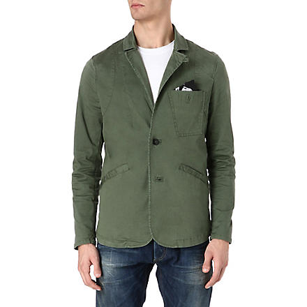 DENHAM Tailor semi-tech sportcoat blazer (Green