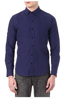 DENHAM Raglan-detail Oxford shirt