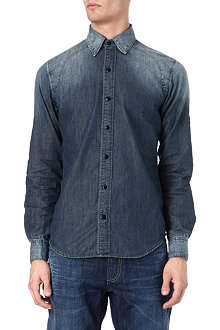 DENHAM Denim shirt raglan detail