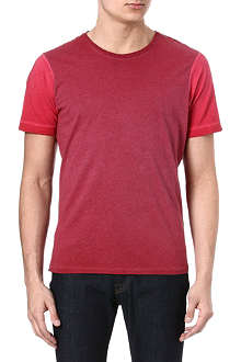 DENHAM Contrast-sleeved t-shirt