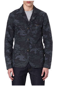 DENHAM Camo-print cotton jacket