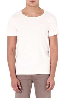 DENHAM Boat-neck t-shirt