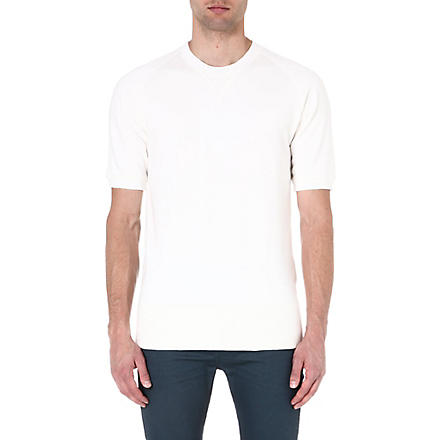DENHAM Short-sleeved sweatshirt (Ecru