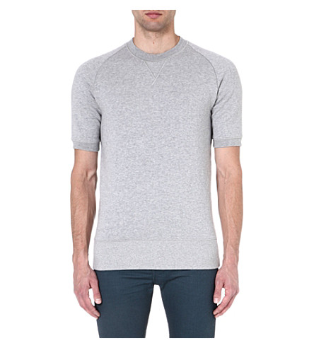 DENHAM Short-sleeved sweatshirt (Grey