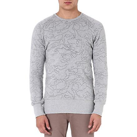 DENHAM Aqua-print sweatshirt (Grey