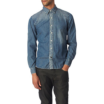 DENHAM Denim shirt (Blue