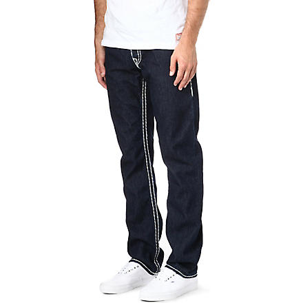 TRUE RELIGION Jack super T regular-fit straight jeans (Indigo