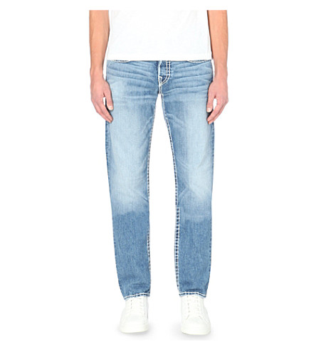 TRUE RELIGION Geno super-T conductor straight-leg jeans (Blue