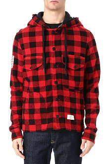 TRUE RELIGION Hooded check jacket