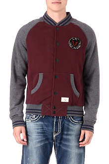 TRUE RELIGION Contrast-sleeve sweat jacket