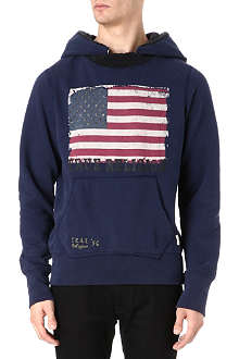 TRUE RELIGION American Flag hoody