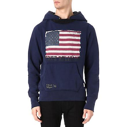 TRUE RELIGION American Flag hoody (Blue