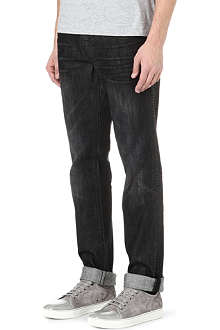 TRUE RELIGION Rocco Rattlesnake slim-fit tapered jeans