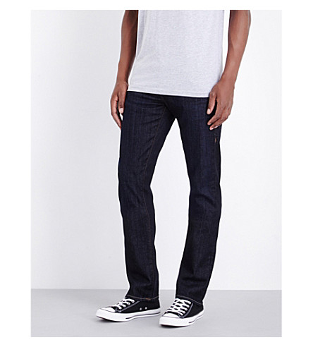 TRUE RELIGION Ricky relaxed-fit straight jeans (Dark+indigo