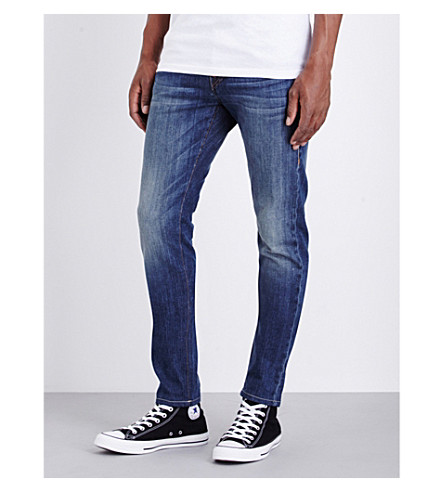 TRUE RELIGION Rocco relaxed-fit skinny jeans (Lt+blue