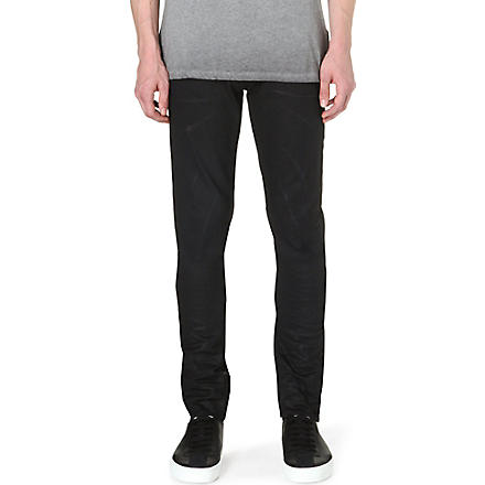 TRUE RELIGION Rocco slim-fit tapered jeans (Black