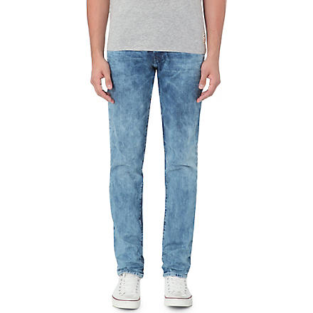 TRUE RELIGION Rocco slim-fit tapered jeans (Shadow