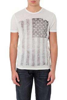 TRUE RELIGION Flag-print cotton t-shirt