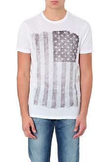 TRUE RELIGION Flag-print cotton t-shirt