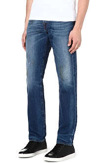 TRUE RELIGION Geno slim-fit distressed jeans
