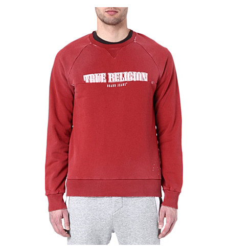 TRUE RELIGION Logo sweatshirt (Red