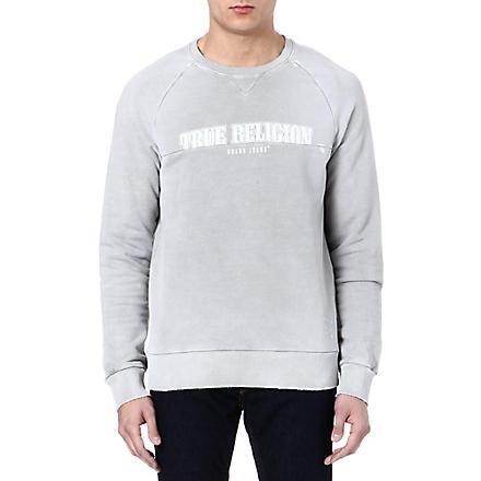 TRUE RELIGION Logo sweatshirt (Pearl