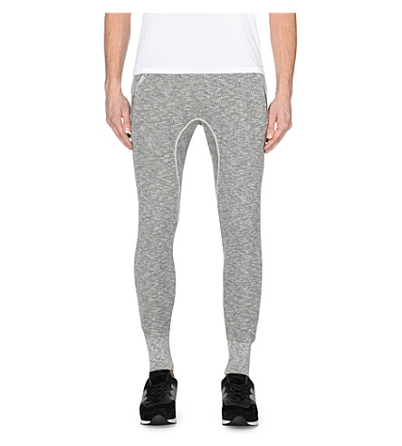 TRUE RELIGION Jersey jogging bottoms (Dark+marl
