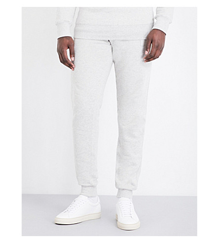 TRUE RELIGION Horseshoe cotton-jersey jogging bottoms (Heather+grey