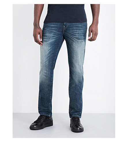 TRUE RELIGION Dusty Rider slim-fit straight jeans (Dusty+rider