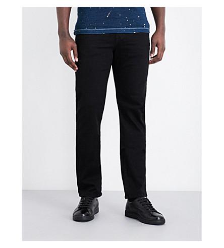 TRUE RELIGION Geno regular-fit tapered jeans (Midnight+black