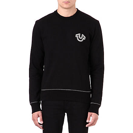 TRUE RELIGION Logo crew-neck sweatshirt (Black
