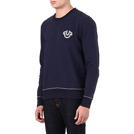 TRUE RELIGION Logo crew-neck sweatshirt (Navy