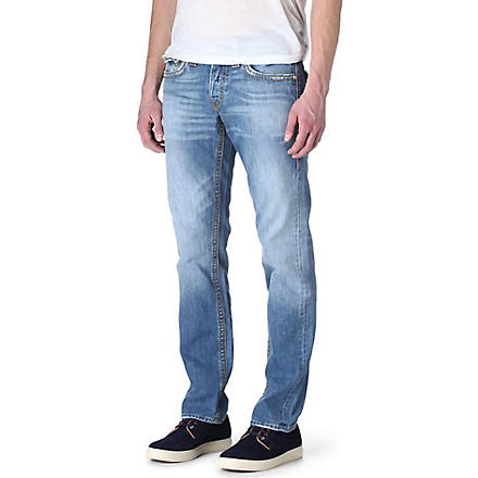 TRUE RELIGION Jack Mid Drifter slim-fit straight jeans (Mid+drifter