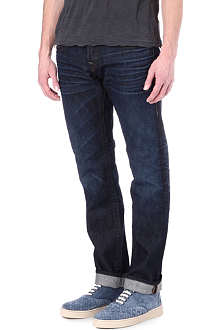 TRUE RELIGION Rocco Zipper skinny-fit tapered jeans