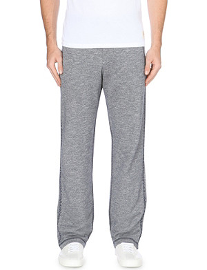 TRUE RELIGION Baseball cotton-jersey jogging bottoms