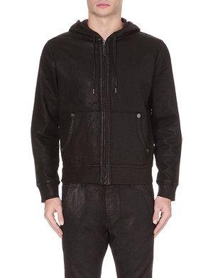 TRUE RELIGION Tr coated runner zip hoodie
