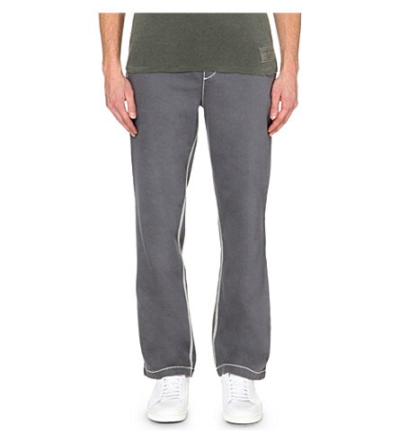 TRUE RELIGION Wide-leg jersey track pants (Pavement