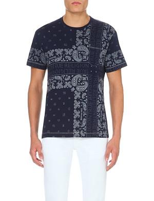 TRUE RELIGION Bandana-print cotton-jersey t-shirt
