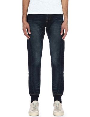 TRUE RELIGION Runner relaxed-fit tapered-leg jeans