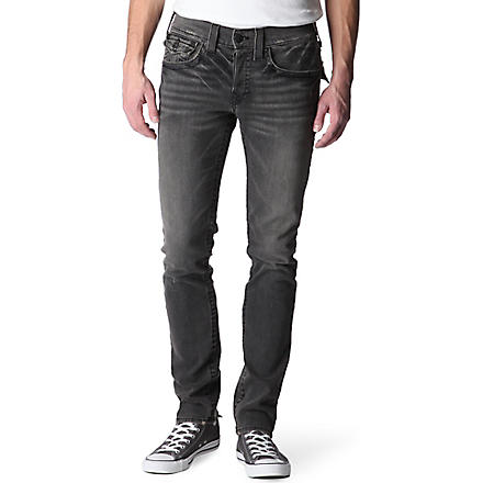 TRUE RELIGION Zach skinny-fit tapered jeans (Rebel+med