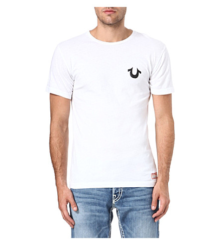 TRUE RELIGION Traditional logo crew-neck t-shirt (White