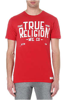 TRUE RELIGION Red collar t-shirt