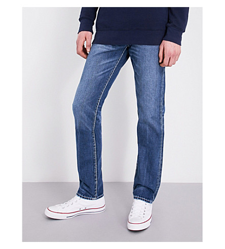 TRUE RELIGION Rocco relaxed skinny-fit jeans (Indigo+barrell