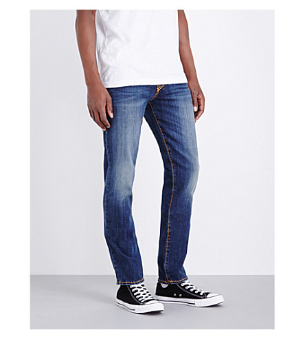 TRUE RELIGION Geno relaxed-fit tapered jeans (Broken+tracks