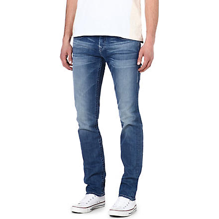 TRUE RELIGION Zach regular-fit skinny jeans (Mid wash